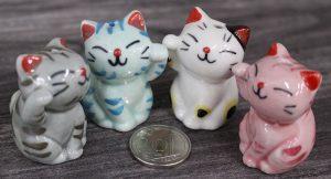 Cat Porcelain Figurines
