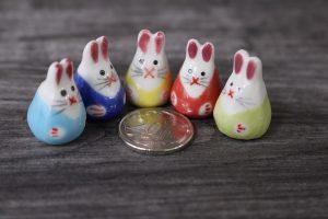 Mini Rabbit Porcelain Figurines