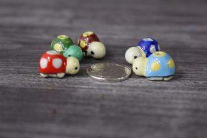 Mini Tortoise Porcelain Figurines