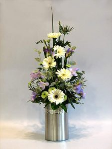 vertical flower arrangement