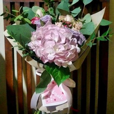 Lavendar Ice Cream Flower Bouquet | Epic Workshops Singapore
