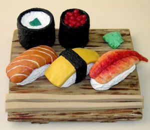 clay art clay figurines - sushi