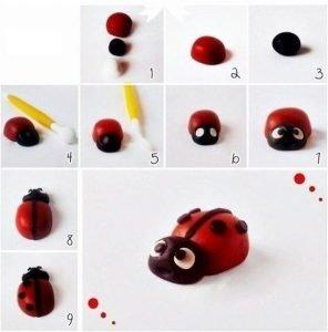 clay art clay figurines - ladybug