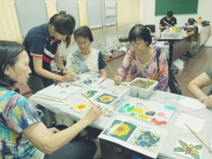 Tiles Painting Workshop for Seniors