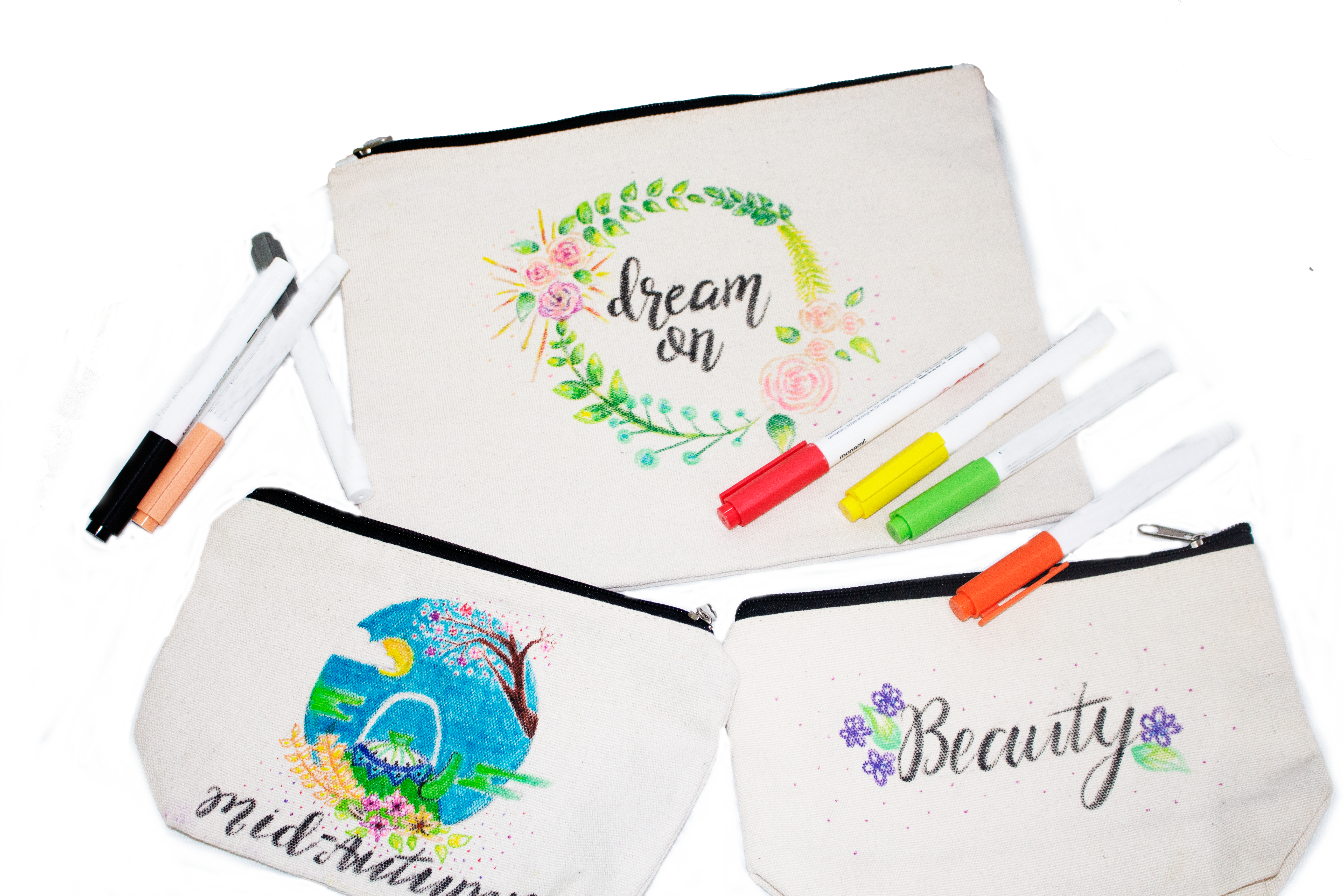 calligraphy pouch workshop