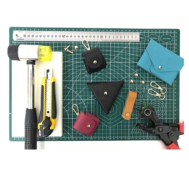 stitched leather making workshop