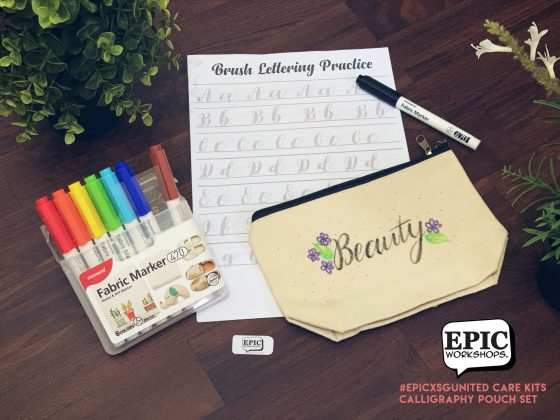 Stay Home Experience Kits - Calligraphy Pouch