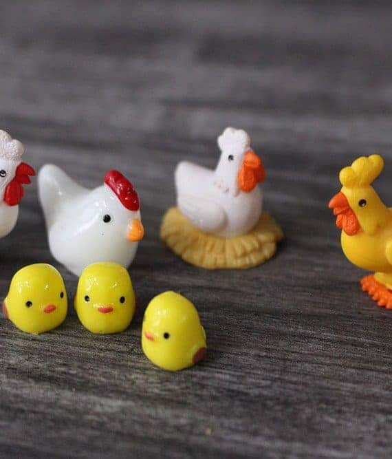 terrarium figurines singapore Chicken Family August 2021