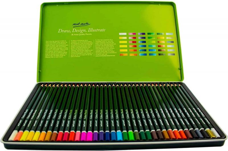 Mont Marte Colouring Pencils Set - 36 pieces April 2021