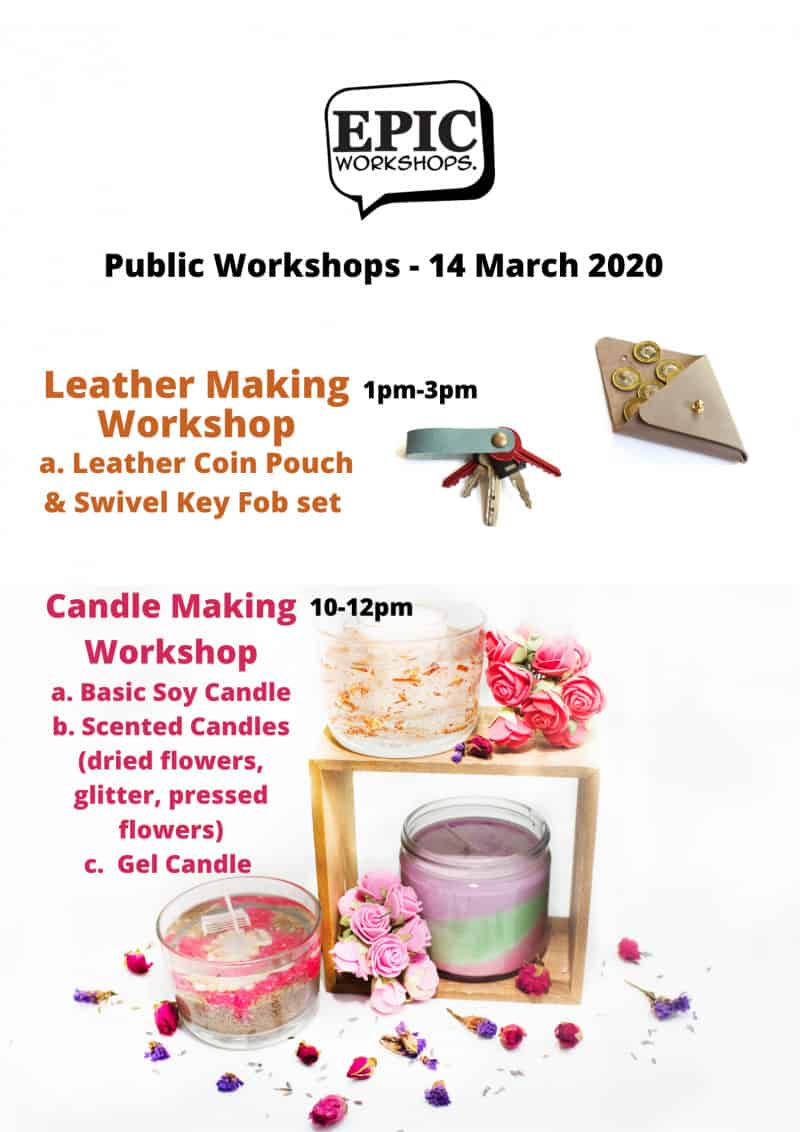 terrarium workshop Public Workshops - Candle Making - 14 March 2020 - 10am August 2021