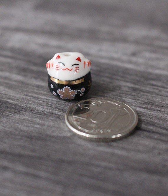 Terrarium workshop Mini Fortune Cat Porcelain Figurines - Black August 2021